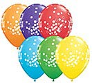"11""HBD CONFETTI DOTS 1st Alternate Image"