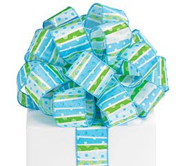 #9 LIL'BABY BOY DOTS WIRED RIBBON