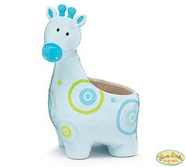ZOOBILEE BOY CERAMIC GIFAFFE PLANTER