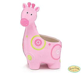 ZOOBILEE GIRL CERAMIC GIFAFFE PLANTER