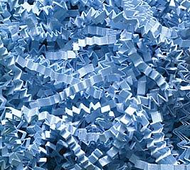 10 LB LIGHT BLUE CRINKLE CUT SHRED