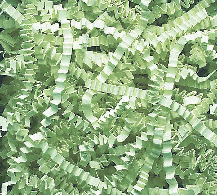 MINT GREEN CRINKLE CUT SHRED 10 LB