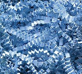 3-8 OZ BAGS LIGHT BLUE CRINKLE CUT SHRED