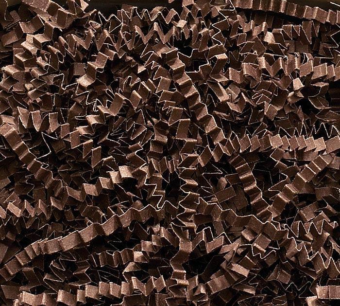 CHOCOLATE BROWN CRINKLE CUT SHRED
