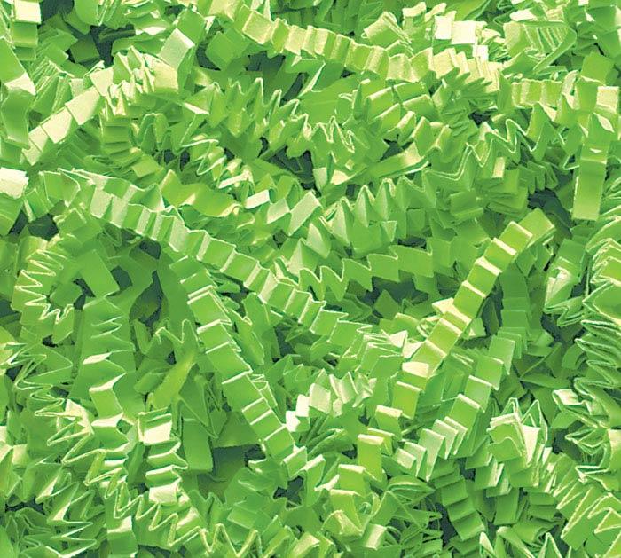 LIME GREEN CRINKLE CUT SHRED
