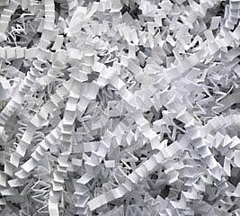 WHITE CRINKLE 40 LB