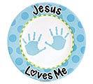 PLATE JESUS LOVES ME