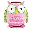 WHOO'S CUTEST GIRL RESIN OWL VASE