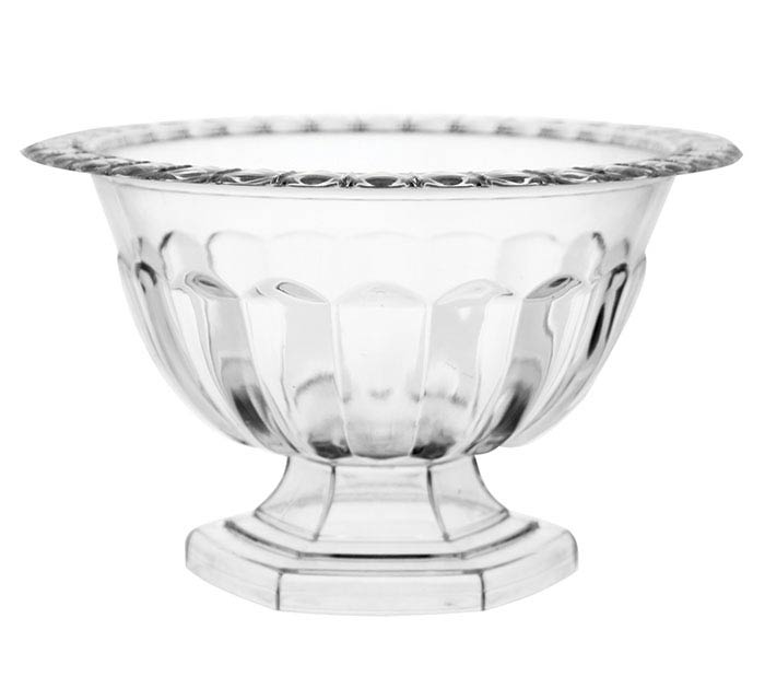 MEDIUM CLEAR ABBY COMPOTE BOWL