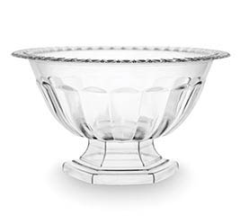 LARGE CLEAR ABBY COMPOTE BOWL