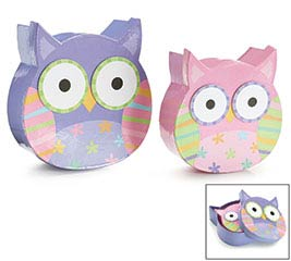 BOX NESTED OWL SHAPE