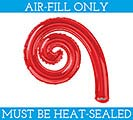 "12""FLAT RED KURLY SPIRAL SHAPE BALLOON"