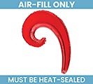 "14""FLAT RED KURLY WAVE SHAPE BALLOON"