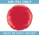"9""FLAT RED ROUND MINI SHAPE BALLOON"