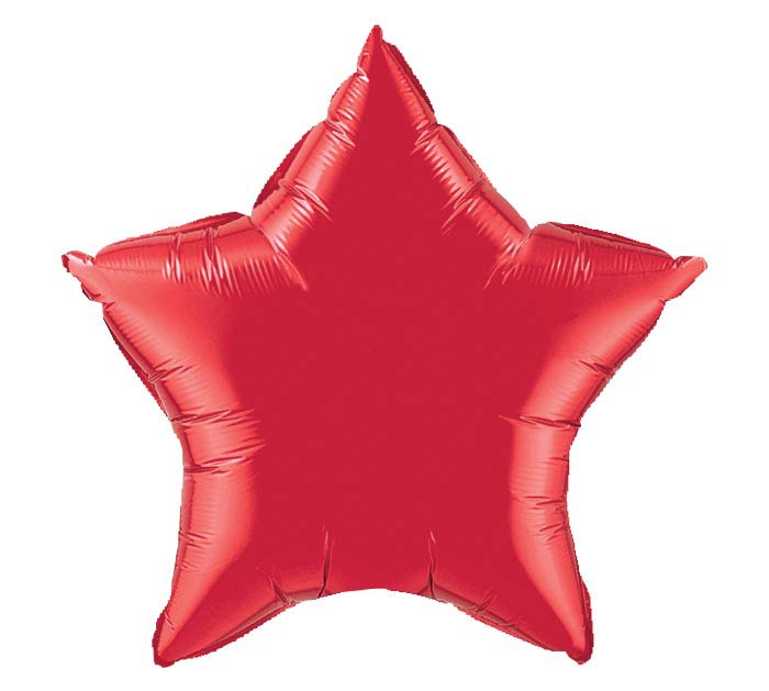 "4""INFLATED RED STAR"