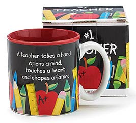 TEACHERS COUNT CERAMIC MUG W/ BOX