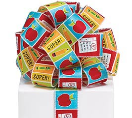 #9 CELEBRATE TEACHERS WIRED SATIN RIBBON
