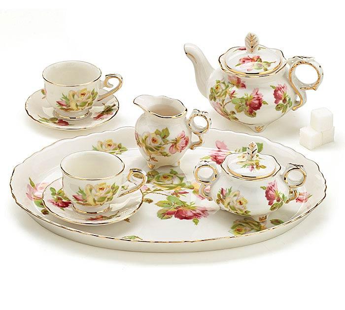 ROYAL ROSE MINI PORCELAIN TEA SET