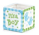 THAT'S MY BOY CERAMIC CUBE PLANTER
