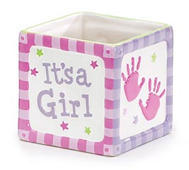 THAT'S MY GIRL CERAMIC CUBE PLANTER