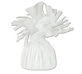 WHITE FOIL BALLOON WEIGHT - 170G