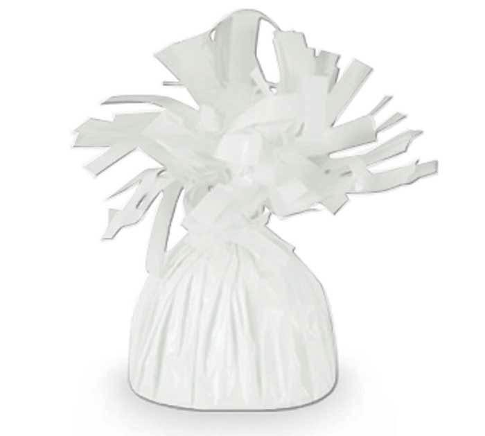 WHITE FOIL BALLOON WEIGHT - 170G
