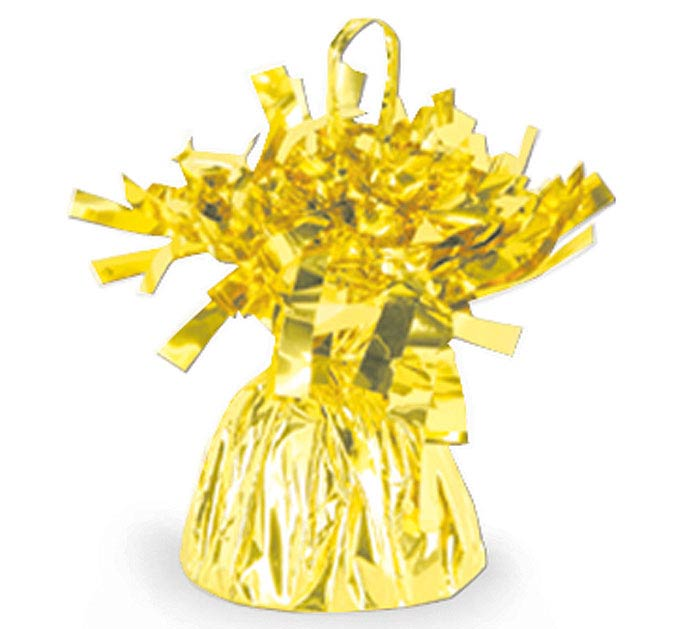 YELLOW FOIL BALLOON WEIGHT - 170G