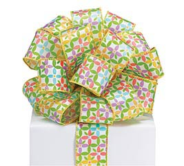 #9 DAISIES FOR DAYS WIRED SATIN RIBBON