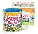 THANKS MOM CERAMIC MUG W/BOX