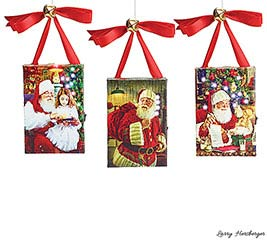 MAGICAL SANTA CANVAS ORNAMENT