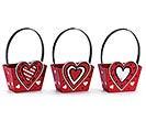 PAPERBOARD VALENTINE HEART BOX W/ HANDLE