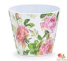 "4"" ROSE GARDEN MELAMINE POT COVER"