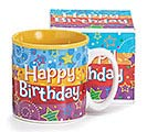 A BIRTHDAY WISH CERAMIC MUG W/ BOX