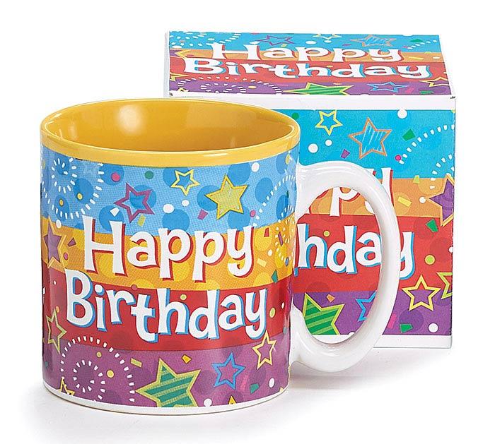 A BIRTHDAY WISH CERAMIC MUG W/ BOX