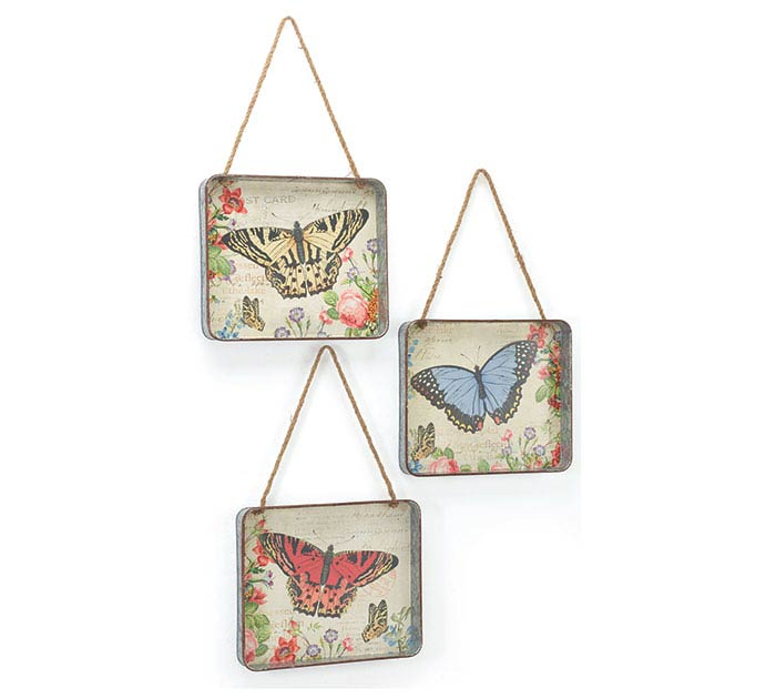 WALL HANGING BUTTERFLY TRAY ASSORTMENT