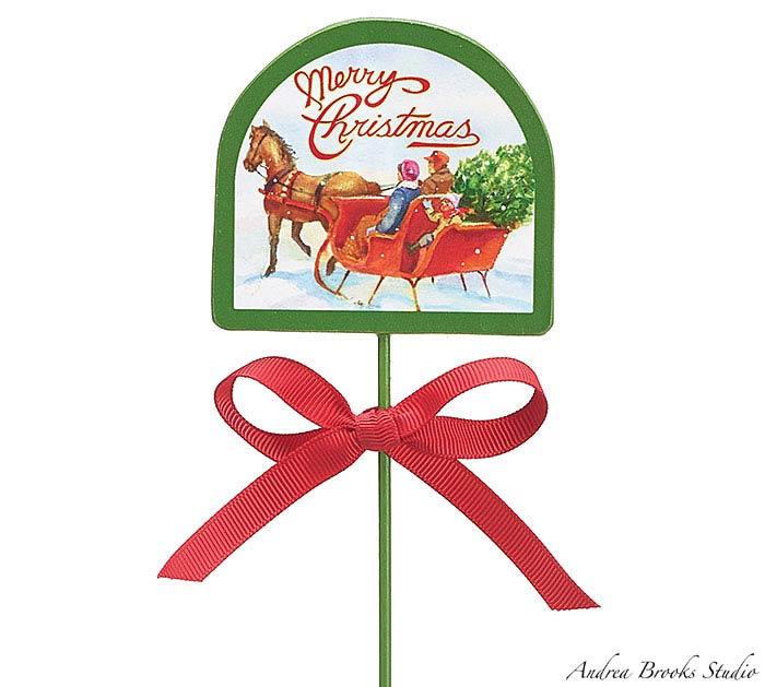 CHRISTMAS WOOD PICK