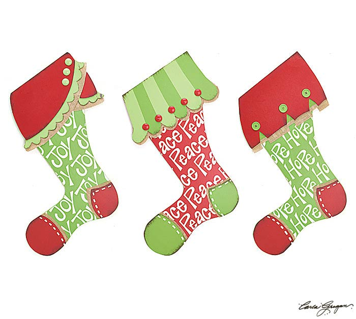 LARGE STOCKING DECOR