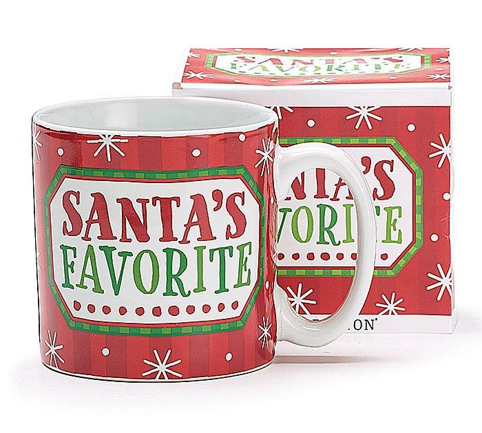 SANTA'S FAVORITE CHRISTMAS MUG