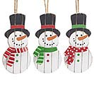 FROSTY FRIENDS ORNAMENTS W/ DISPLAY TREE