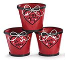 "4"" VALENTINE ROMANCE WOOD POT COVER SET"