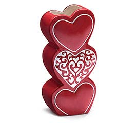 LOVE N' LACE STACKING HEARTS VASE