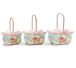 ROSEBELLA TIN NESTED BASKET SET