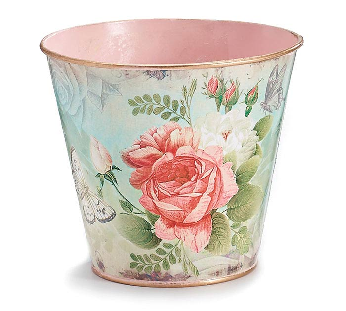 "4"" ROSABELLA TIN POT COVER"