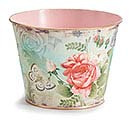 "6"" ROSABELLA TIN POT COVER"