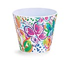 "4"" WATERCOLOR WINGS MELAMINE POT COVER"