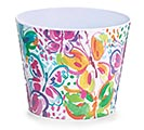"6"" WATERCOLOR WINGS MELAMINE POT COVER"