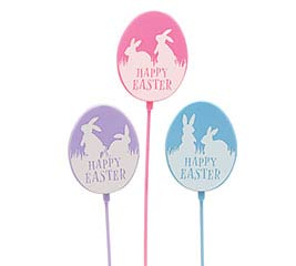 HAPPY EASTER EGG PLASTIC PICK