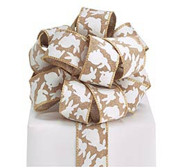 #9 SPRING NATURALS WIRED BURLAP RIBBON