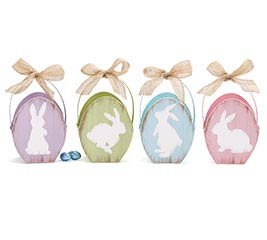 BUNNY SIHOUETTE PAPERBOARD EGG BOX