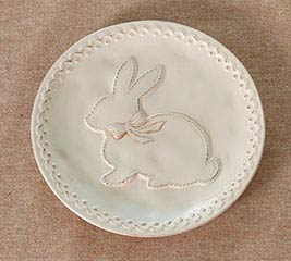 PLATE SILHOUETTE BUNNY